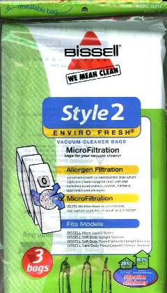 Bissell Style 2 Bag Enviro Fresh 3 Pack (PN 32013) at Sears.com