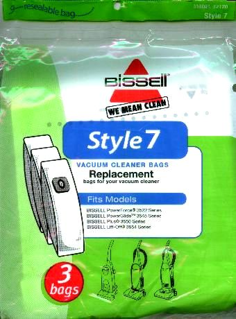Bissell Style 7 Bag 1-ply 3 Pack (PN 32120) at Sears.com