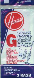 Hoover G Bag 3 Pack (PN 4010008G) at Sears.com