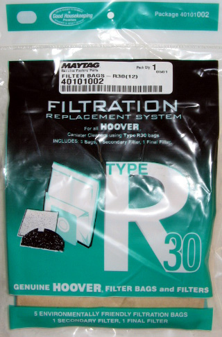 Hoover R30 Bag 5 Pack and 2 Filters (PN 40101002) at Sears.com