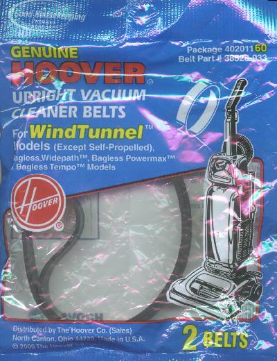 Hoover WindTunnel Non-Self-Prop Agitator Belt 2 Pack (PN 40201160) at Sears.com