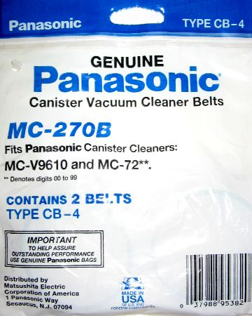 Panasonic Type CB-4 Belt 2 Pack (PN MC-270B) at Sears.com
