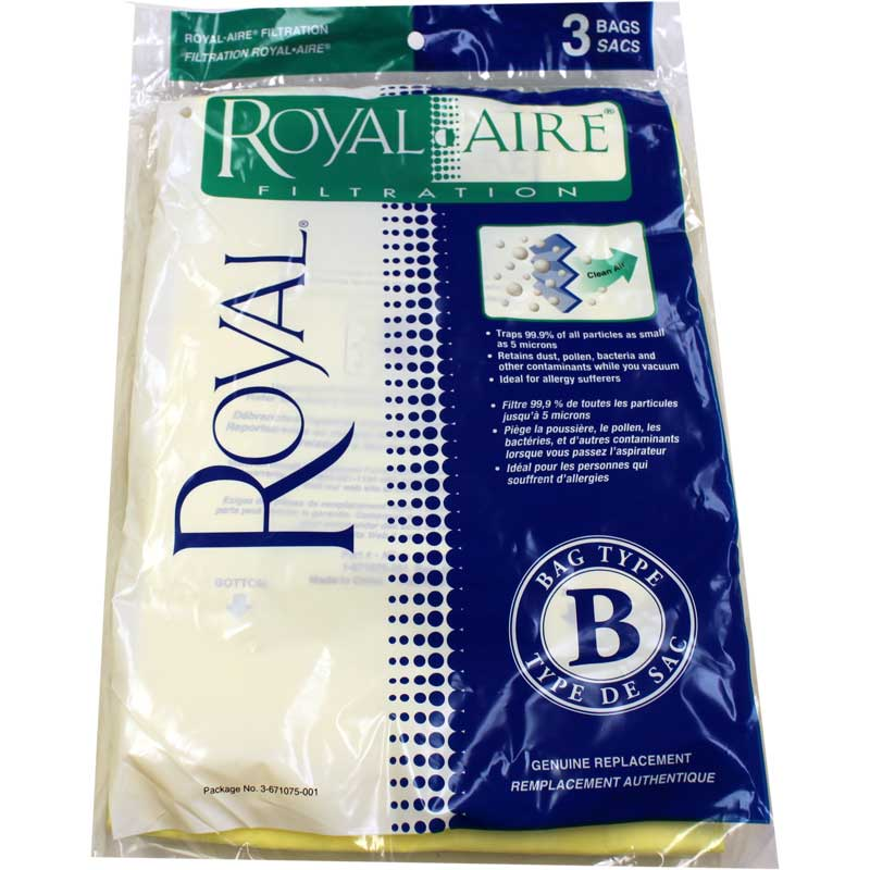 Royal Type B MicroFresh Bag 3 Pack (PN 3-671075-001) at Sears.com
