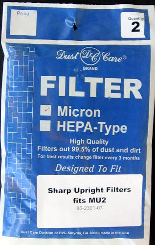 generic Sharp Type MU2 Upright Micron Filter Generic 1 Pack at Sears.com