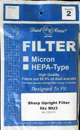 generic Sharp Type MU3 Upright Micron Filter Generic 2 Pack at Sears.com