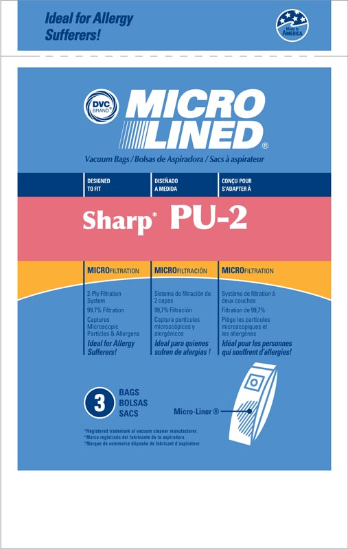 generic Sharp PU-2 Bag Generic Allergen 3 Pack for Uprights at Sears.com